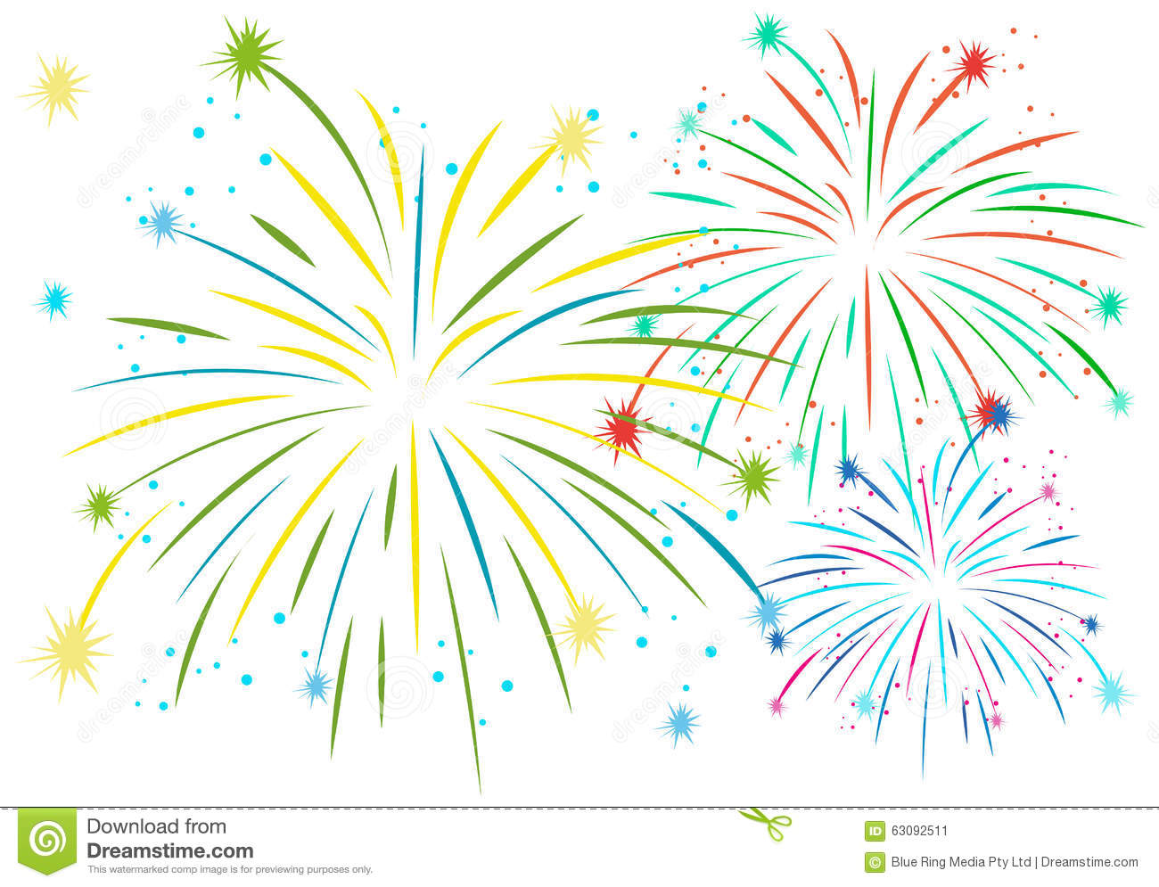 Download Feu D'artifice Dans Beaucoup De Couleurs Illustration de Vecteur - Illustration du illustration, éclatez: 63092511