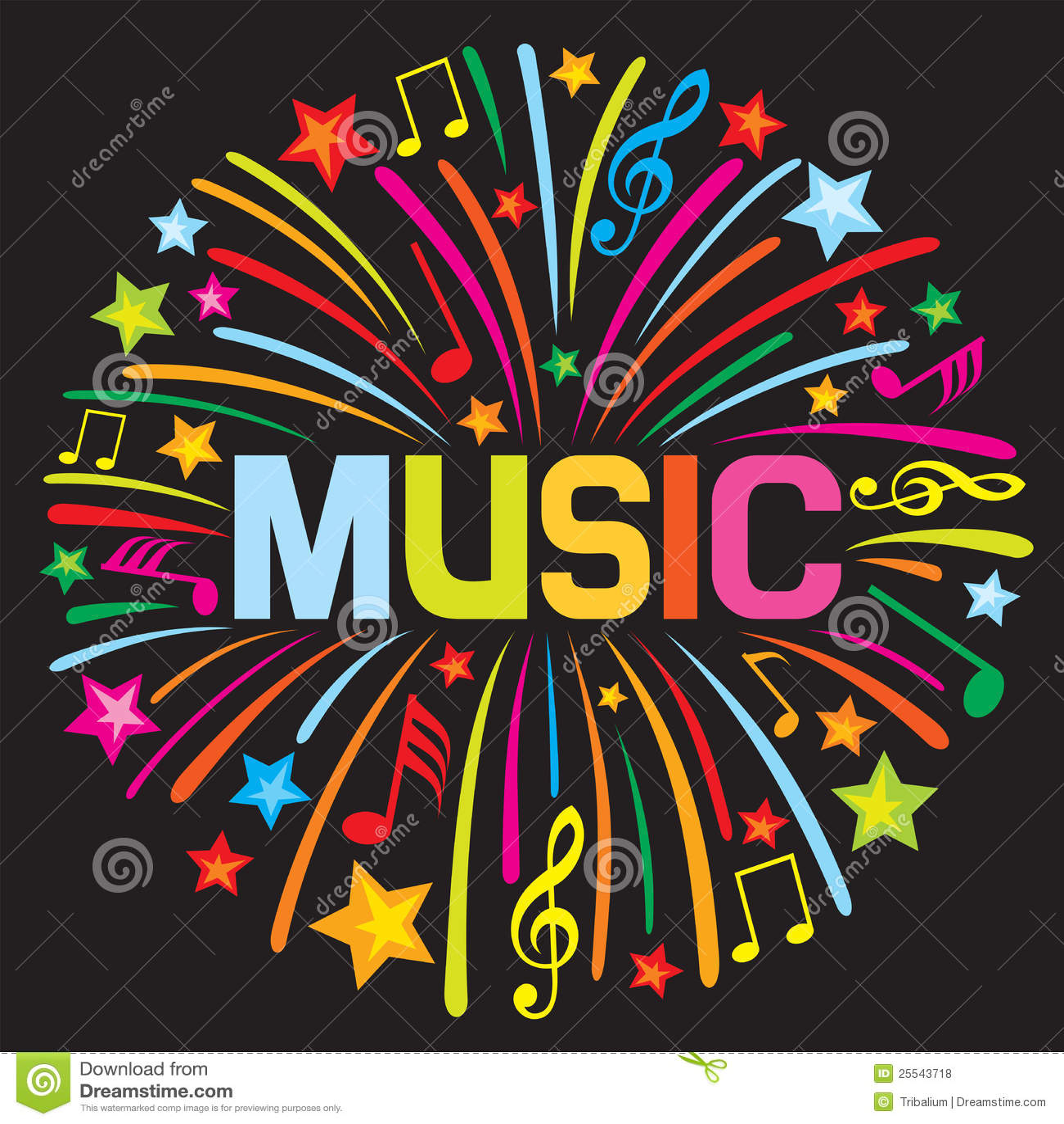 Feu d artifice de musique