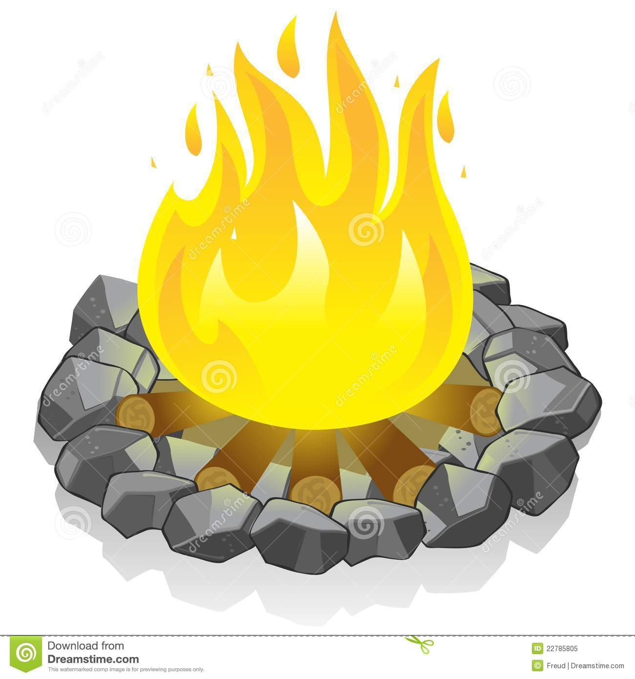 feu de camp photo libre de droits image 22785805. Black Bedroom Furniture Sets. Home Design Ideas