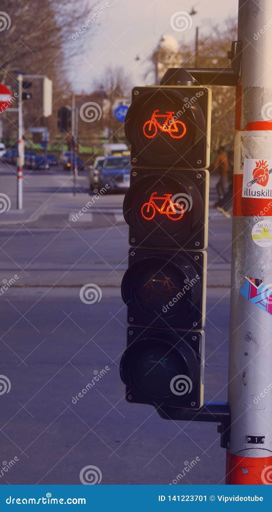 Feu de signalisation pour des cyclistes