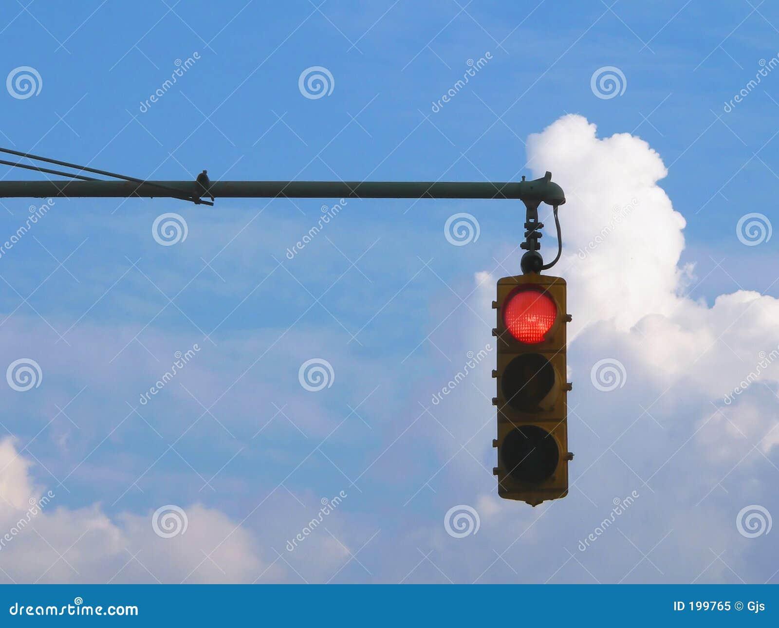 Feu de signalisation rouge