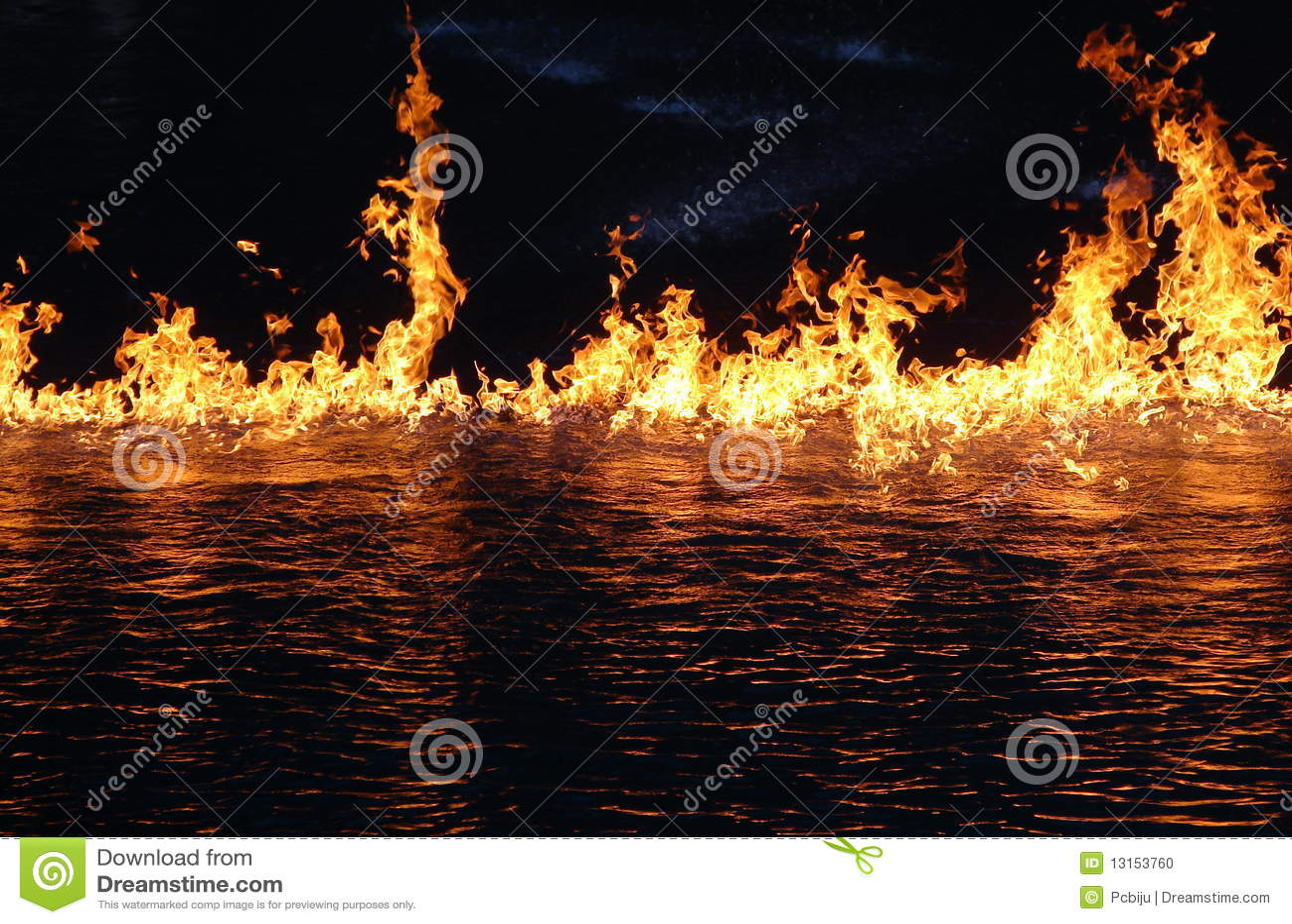 Feuer auf Wasser