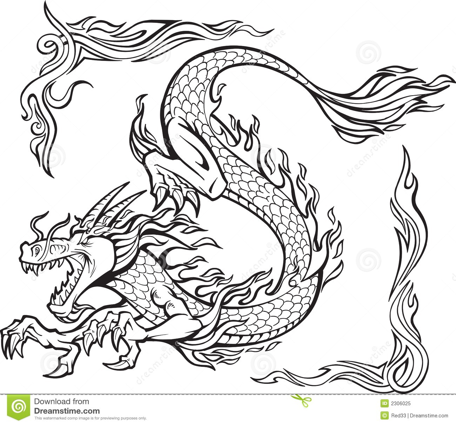 Feuer-Drache-Abbildung
