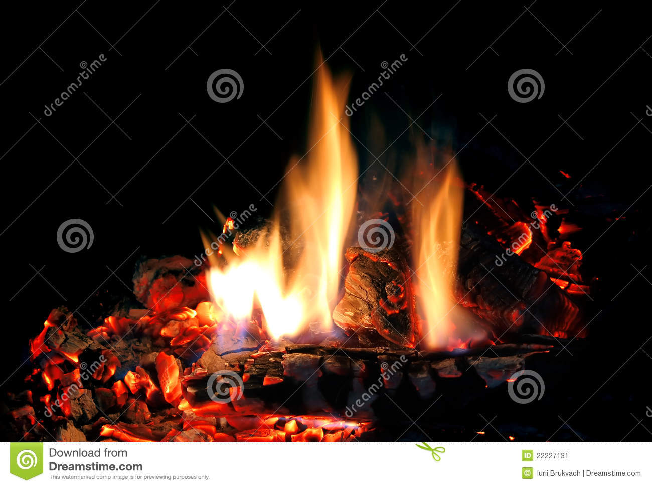 feuer im kamin stockbild bild 22227131. Black Bedroom Furniture Sets. Home Design Ideas