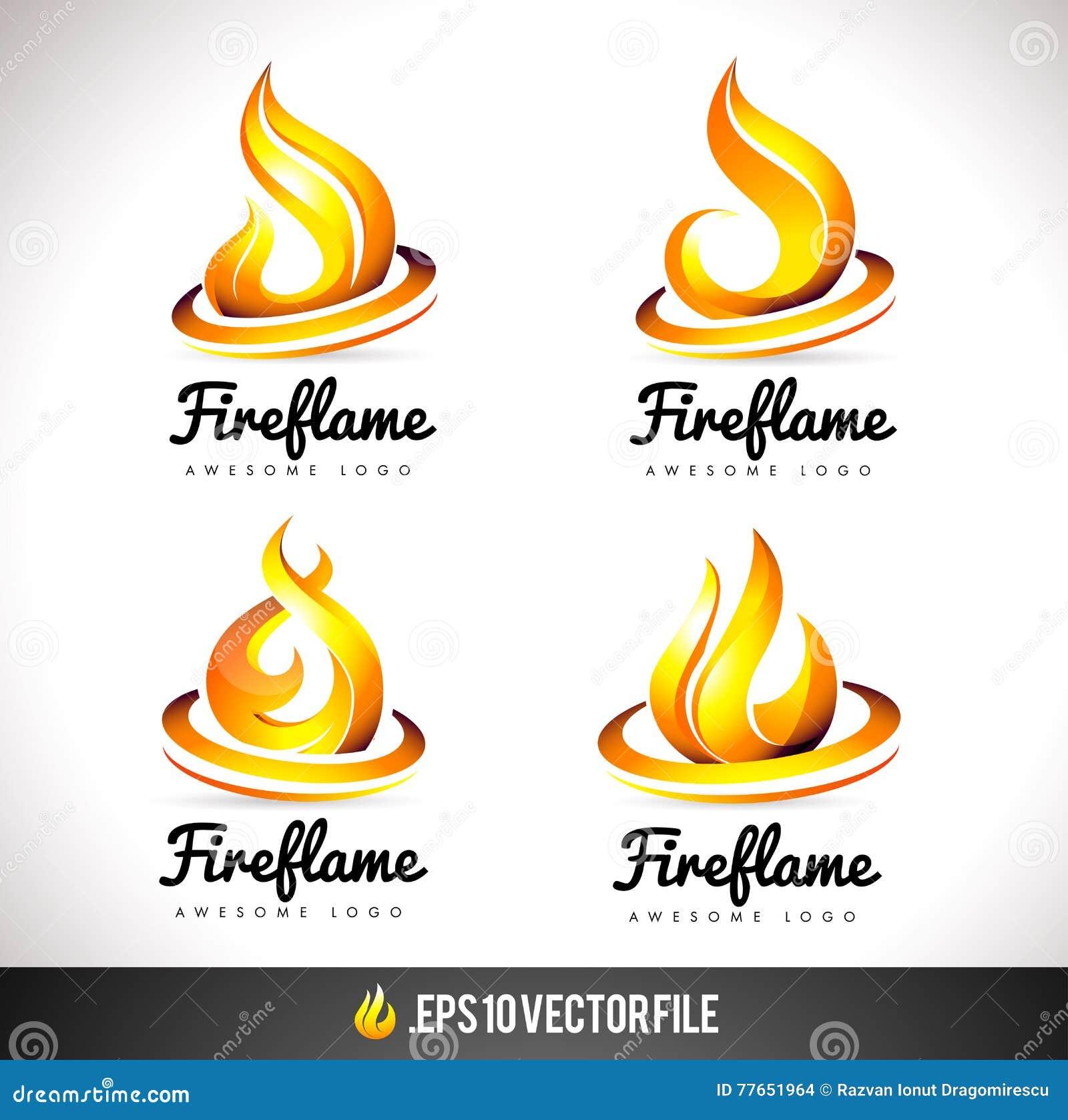 feuer logo icon flammen vektor design stock abbildung bild 77651964. Black Bedroom Furniture Sets. Home Design Ideas