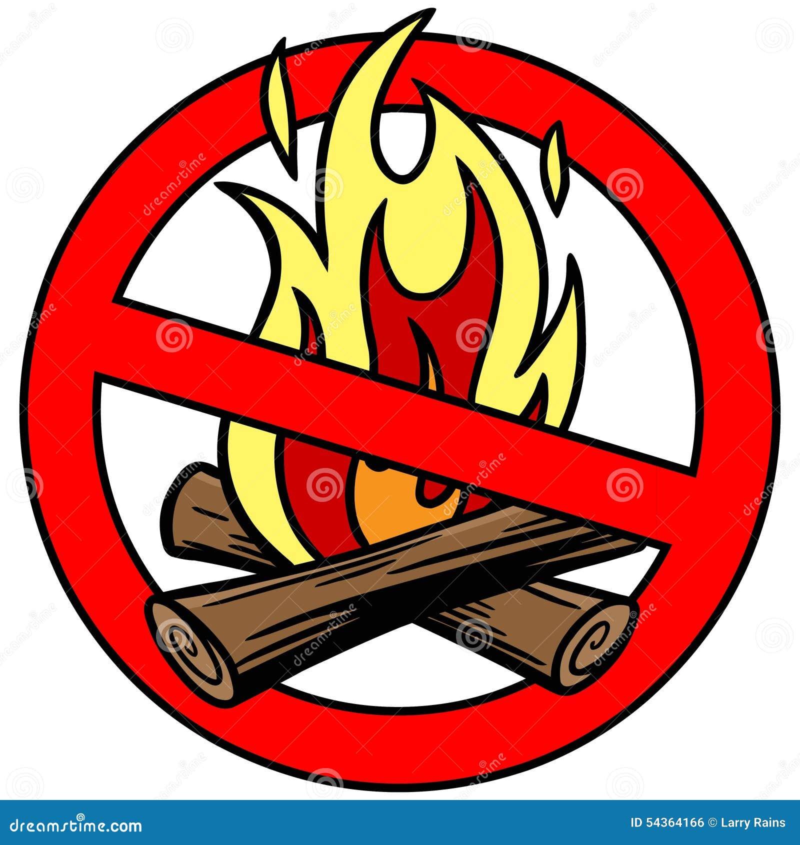Feuer-Verbot Vektor Abbildung - Bild: 54364166