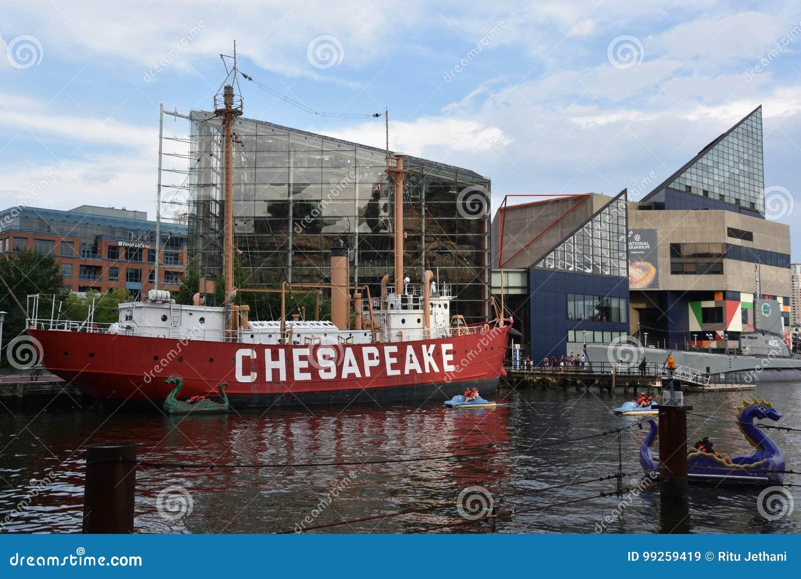 Feuerschiff Vereinigter Staaten Chesapeake LV-116 in Baltimore, Maryland