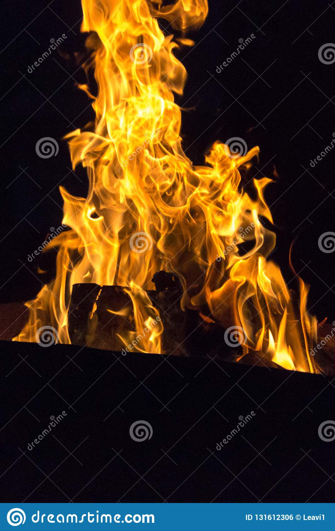 Feuersymbol der Leidenschaft und der Liebe