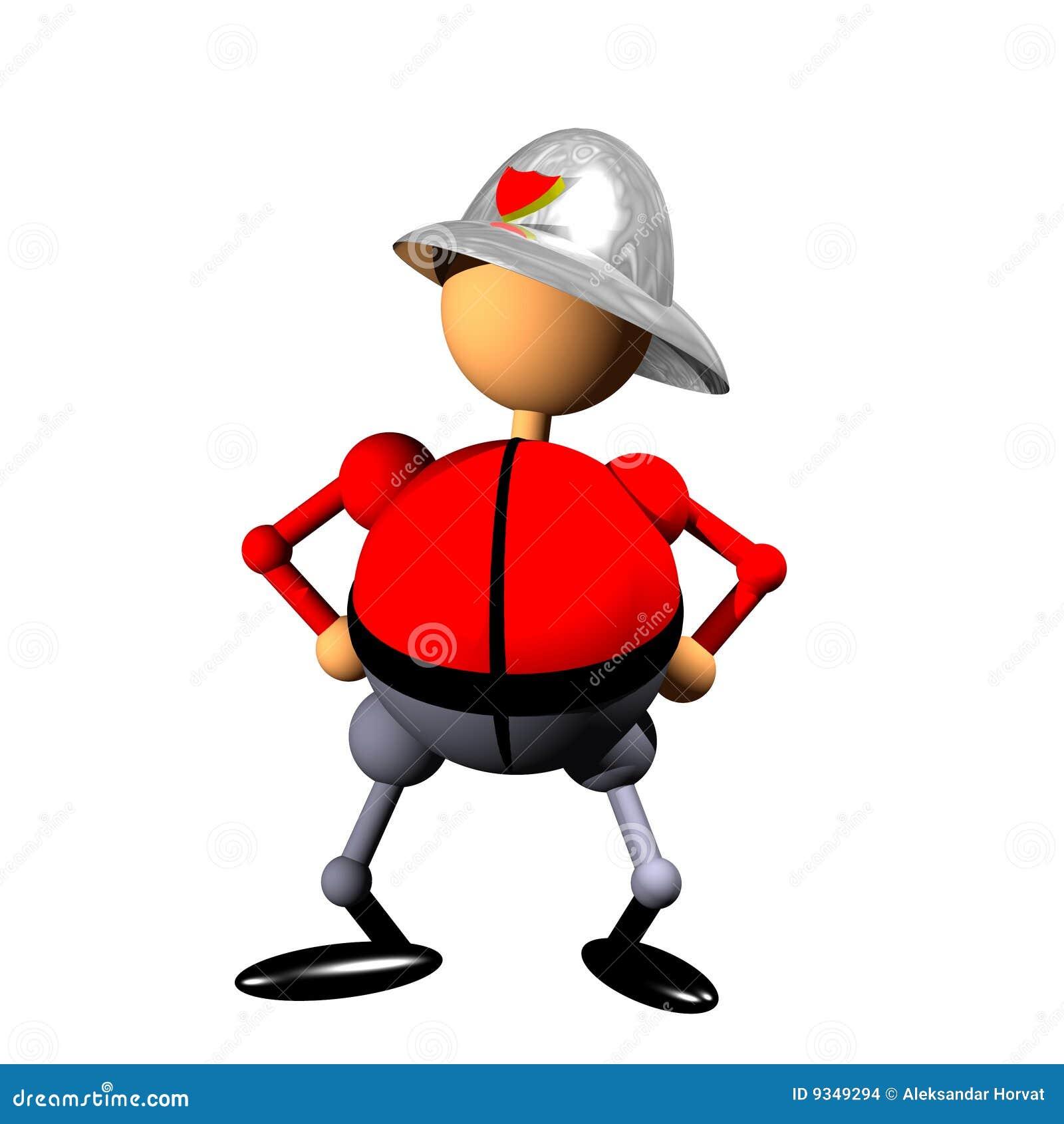 Feuerwehrmann Clipart Stock Abbildung Illustration Von Ikone 9349294