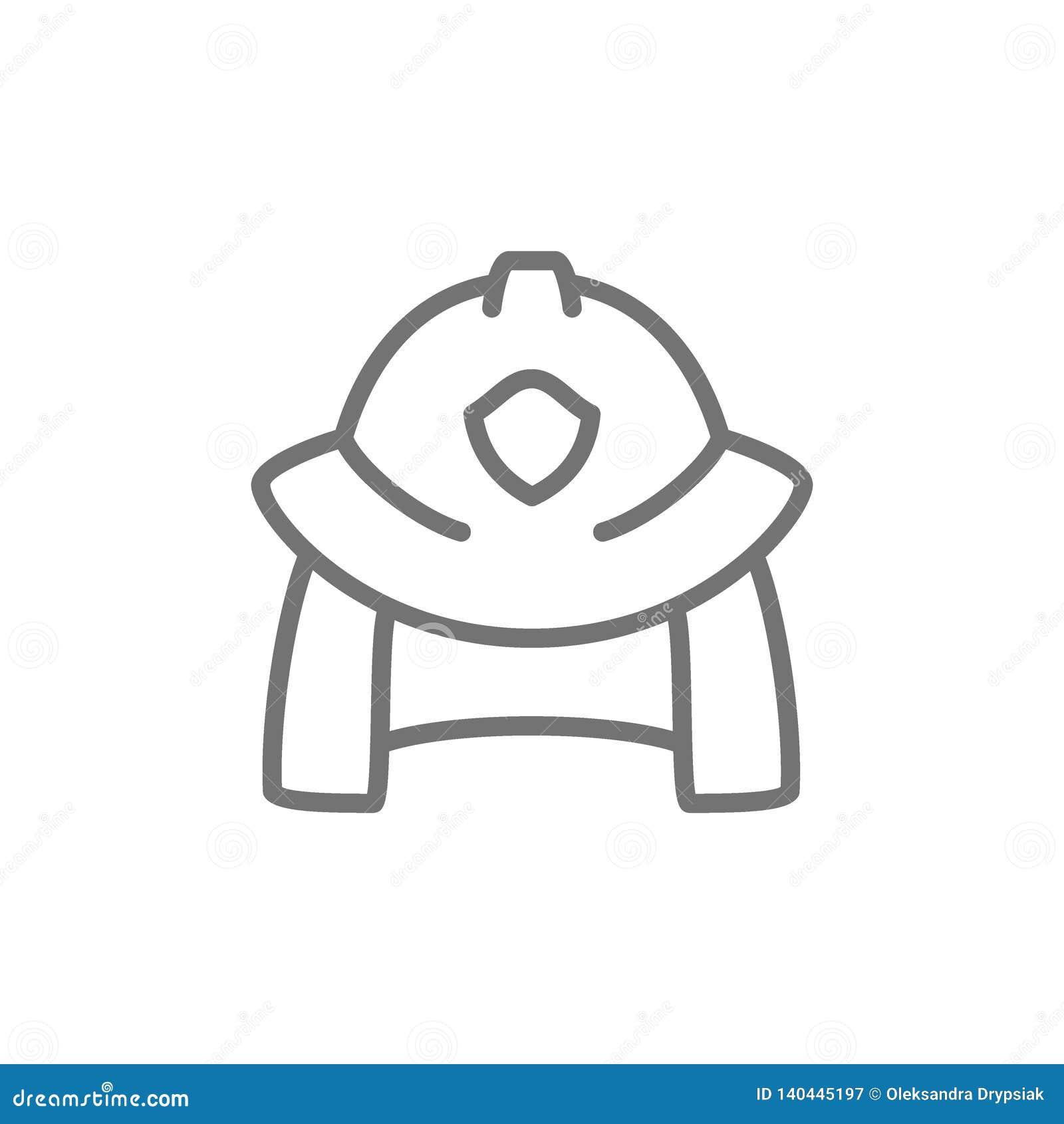 Feuerwehrmannsturzhelmlinie Ikone