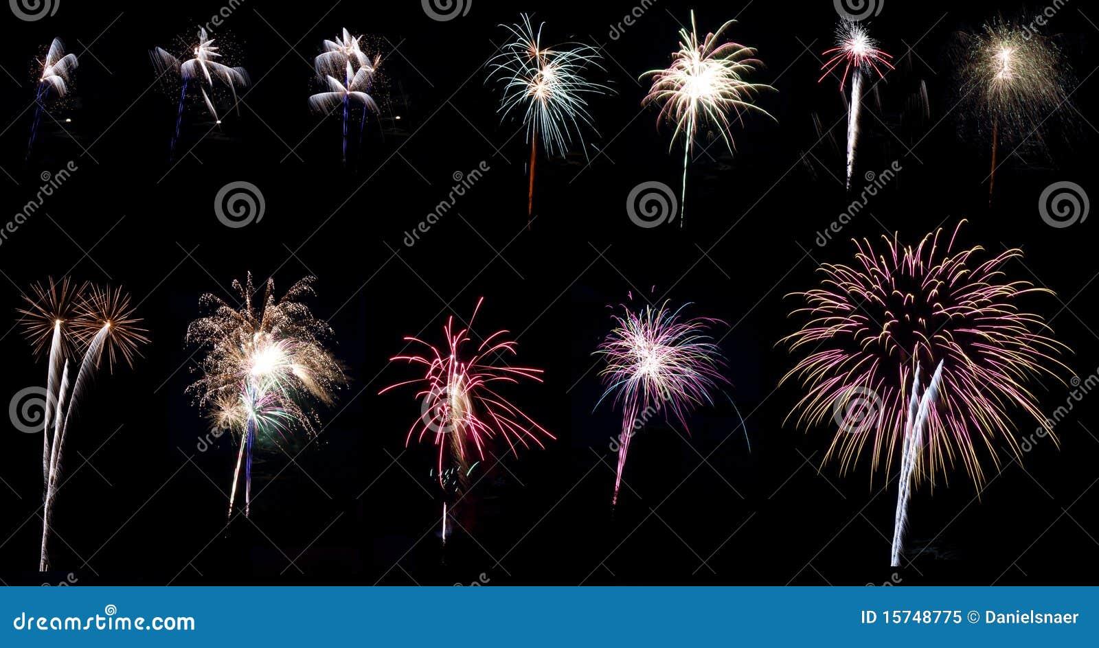 Feuerwerkcollagenserie