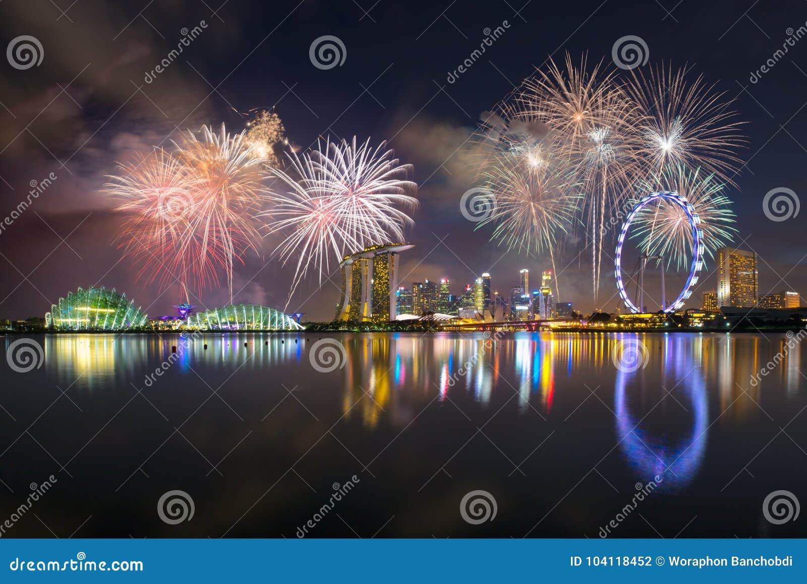 Feuerwerke an der Jachthafenbucht