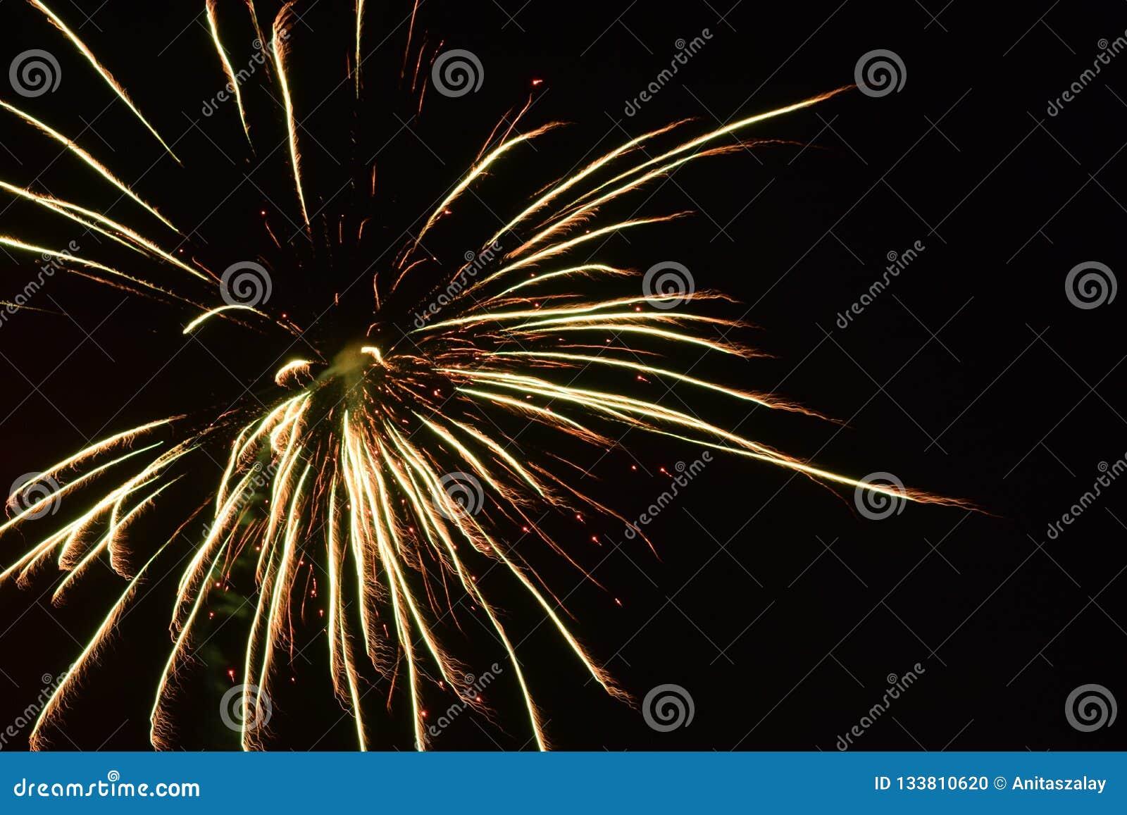 Feuerwerke im Himmel Glückliches neues Jahr