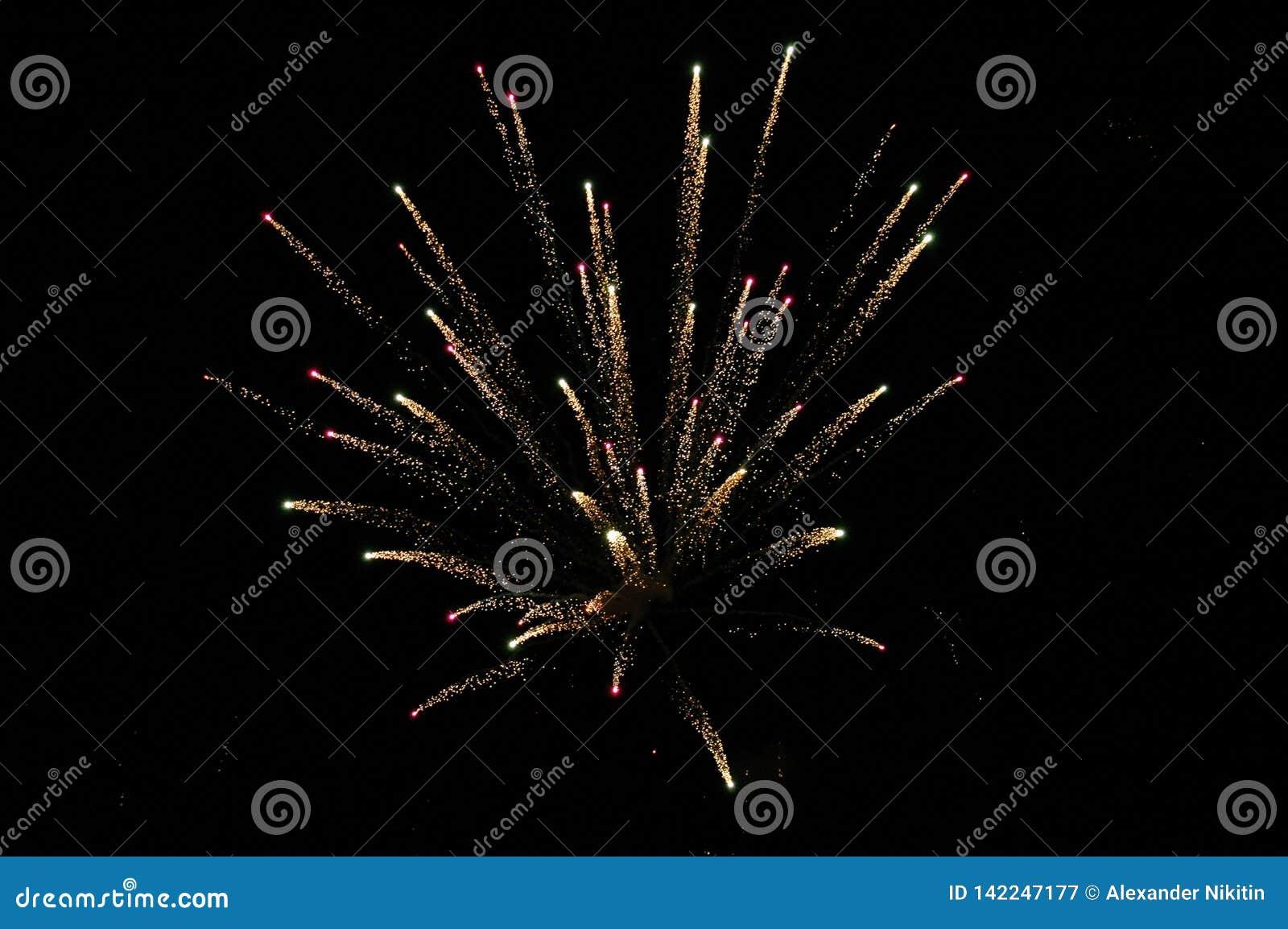 Feuerwerke im nächtlichen Himmel