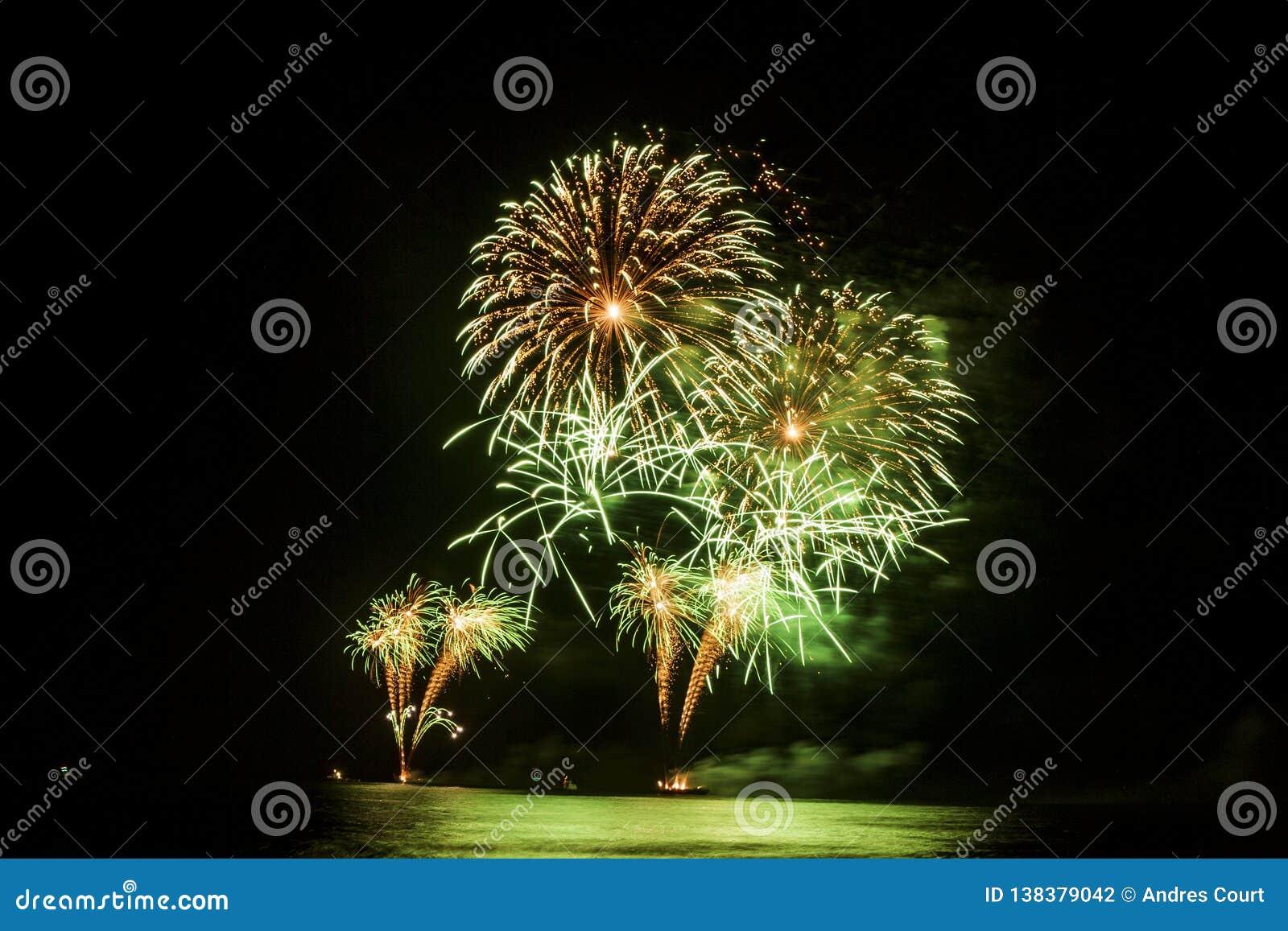 Feuerwerksshow des neuen Jahres