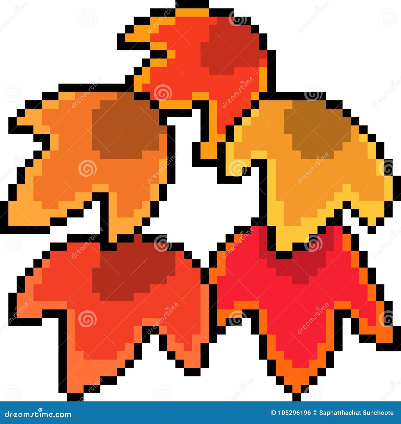 Feuille D Erable D Art De Pixel De Vecteur Illustration De Vecteur Illustration Du Cartoon Automne 105296196