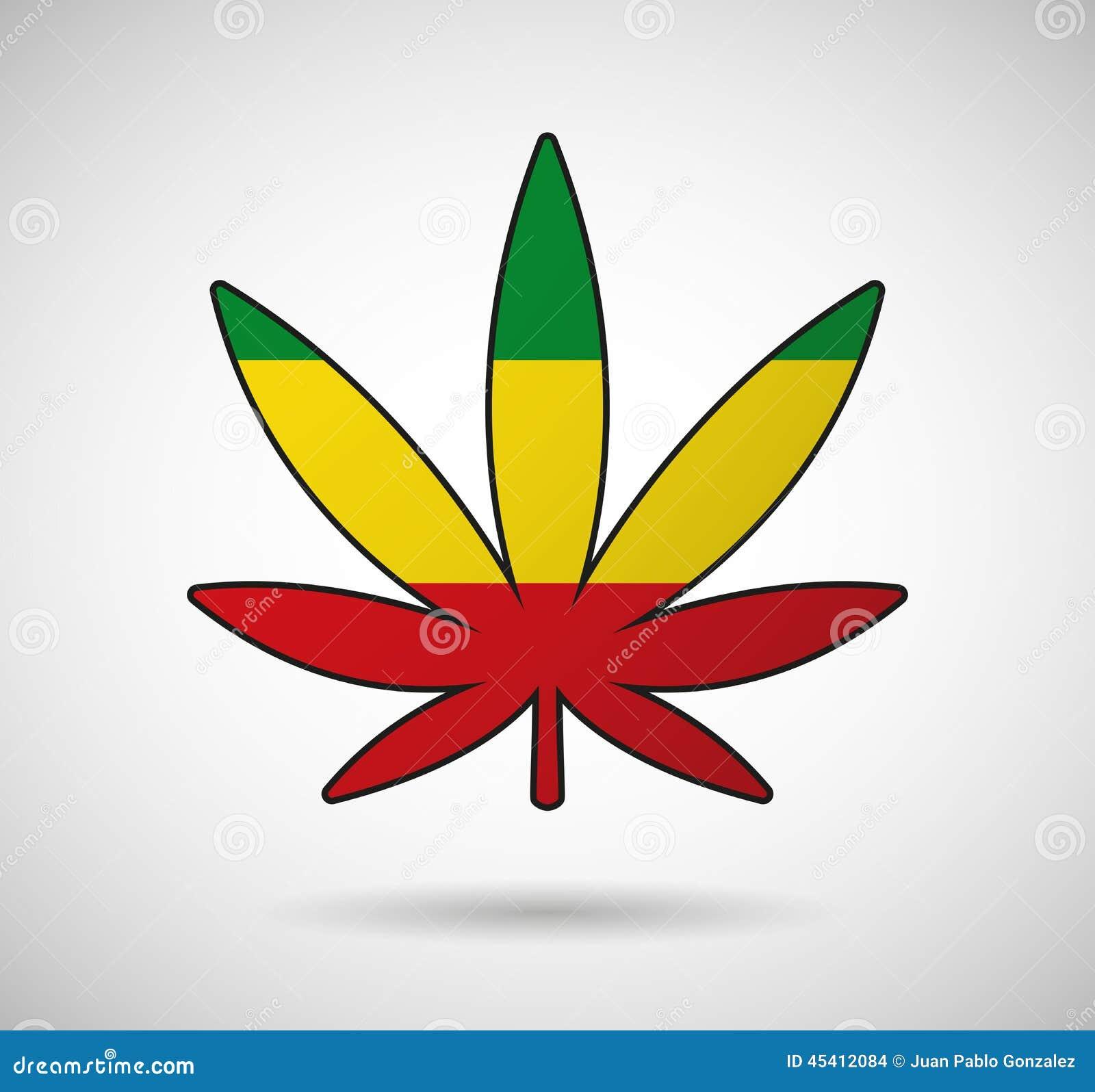 Feuille de cannabis avec le drapeau de rasta illustration stock illustration du fonctionnaire - Dessin feuille cannabis ...