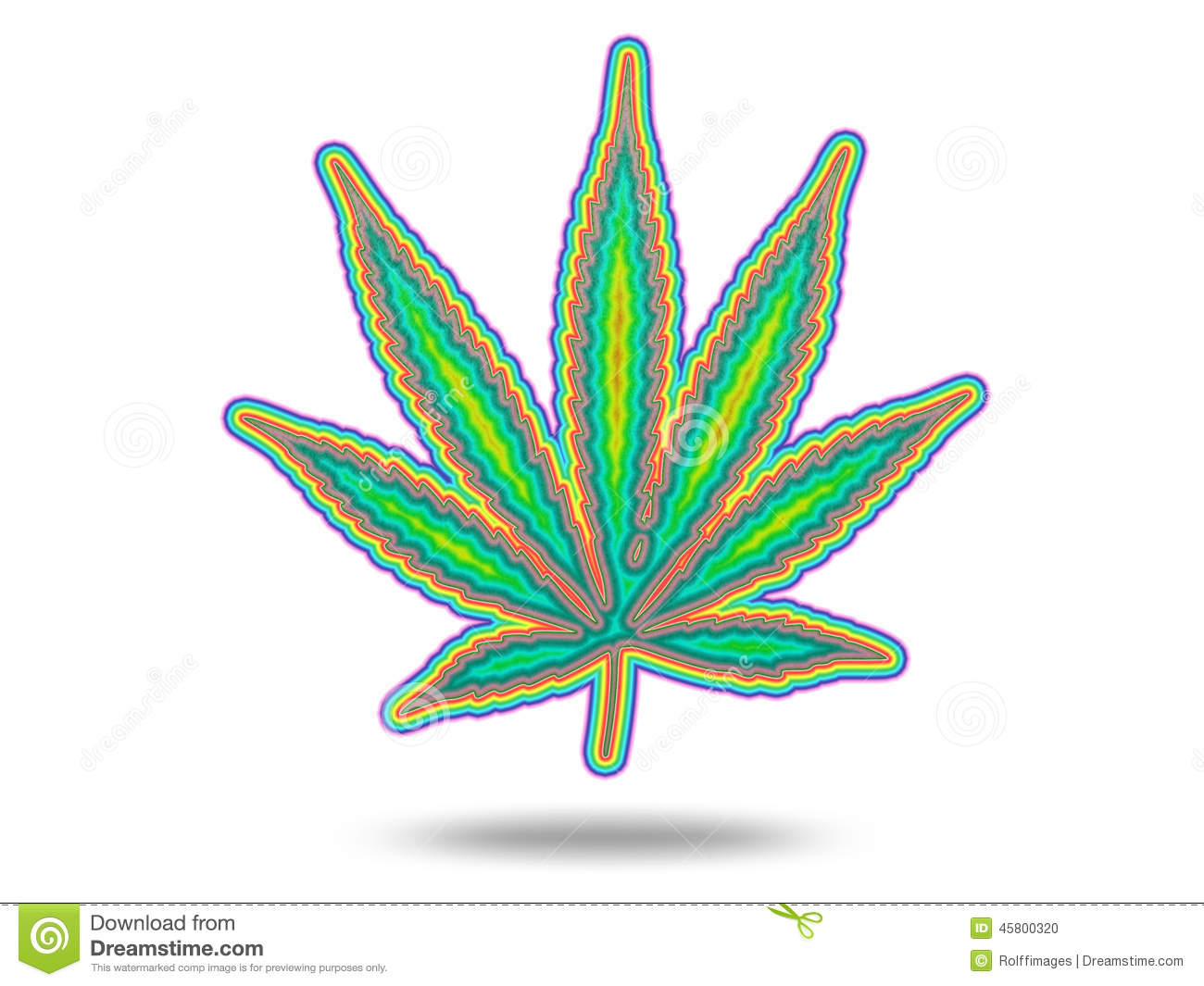 Feuille de cannabis avec le spectre illustration stock illustration du dessin fantastique - Feuille cannabis dessin ...