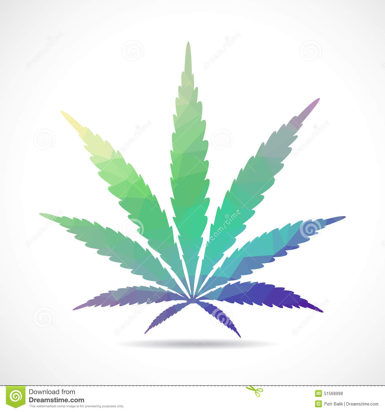 Feuille de cannabis illustration polygonale illustration stock illustration du m dical - Feuille cannabis dessin ...