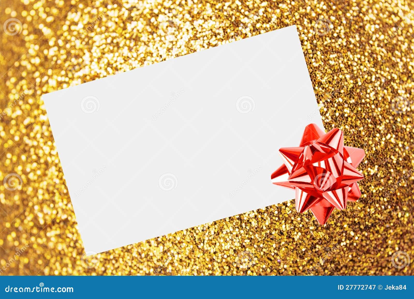 Feuille de Noël de papier avec la proue et les bandes