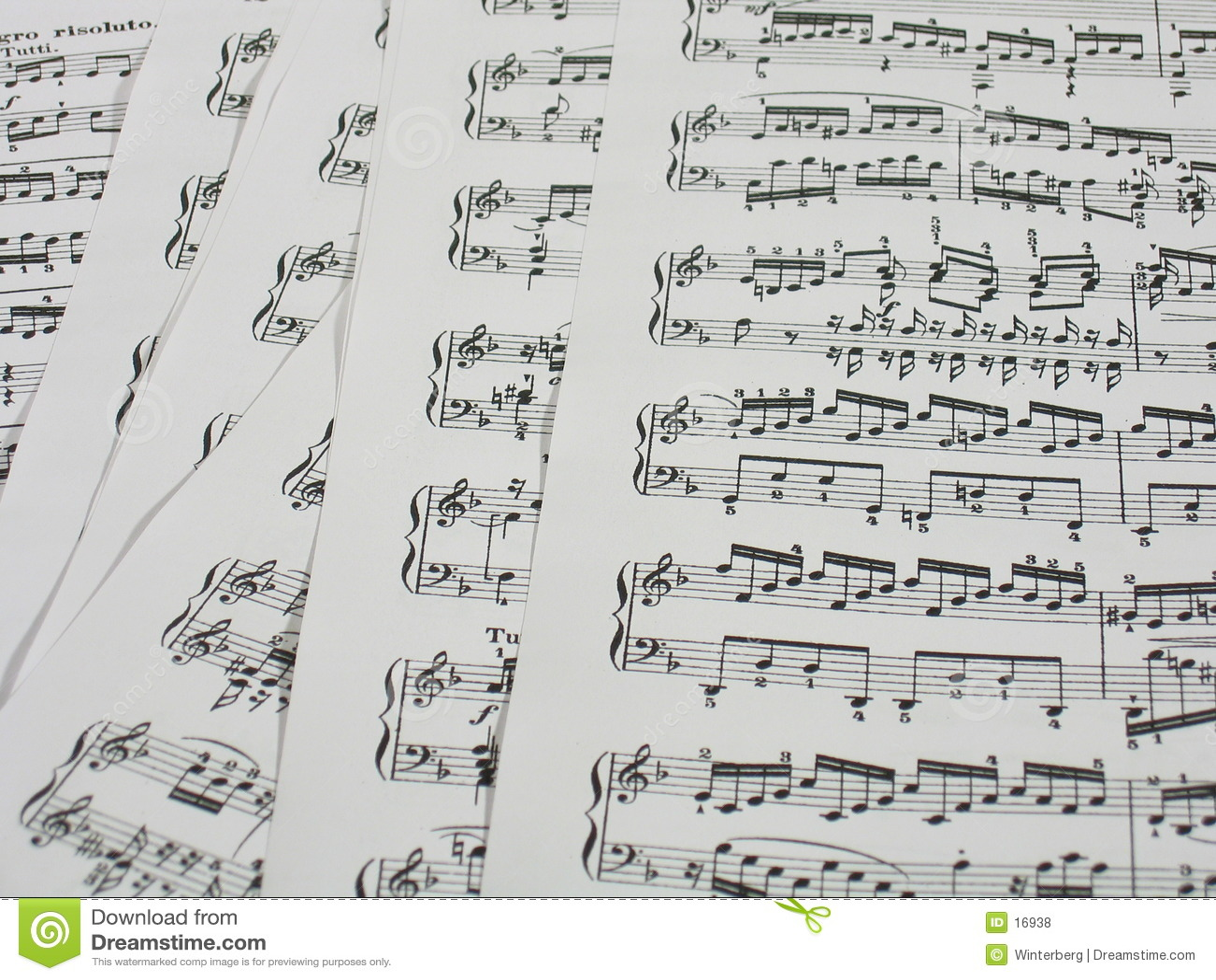 Feuilles de musique