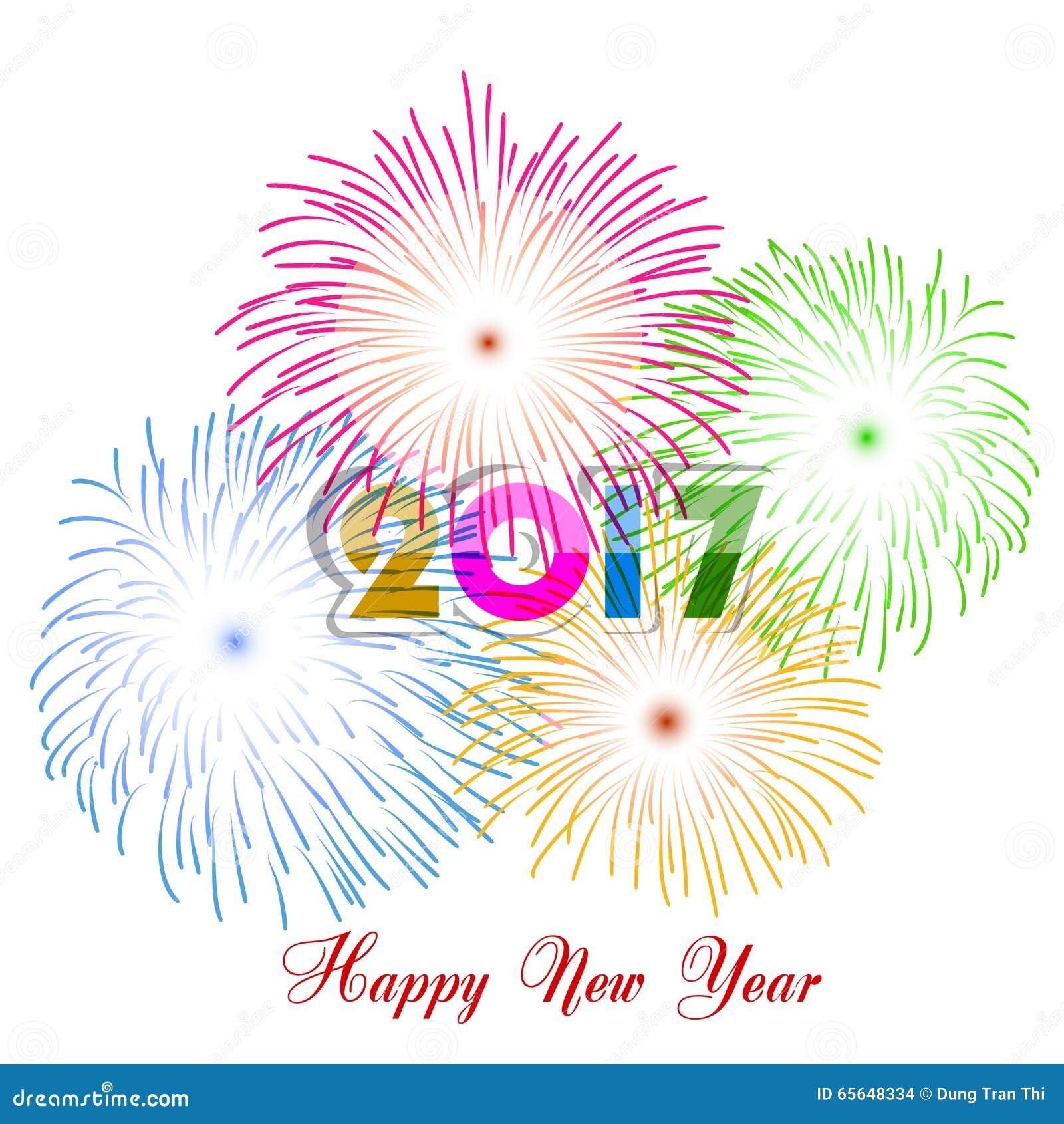 Feux d artifice de bonne année conception de fond de 2017 vacances