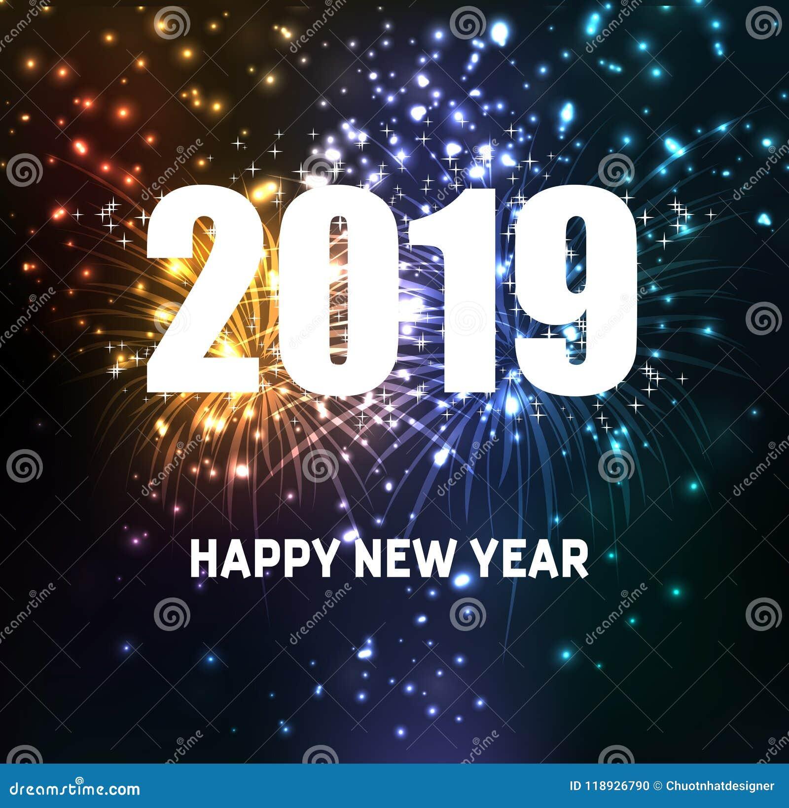Feux d artifice pendant la bonne année 2019