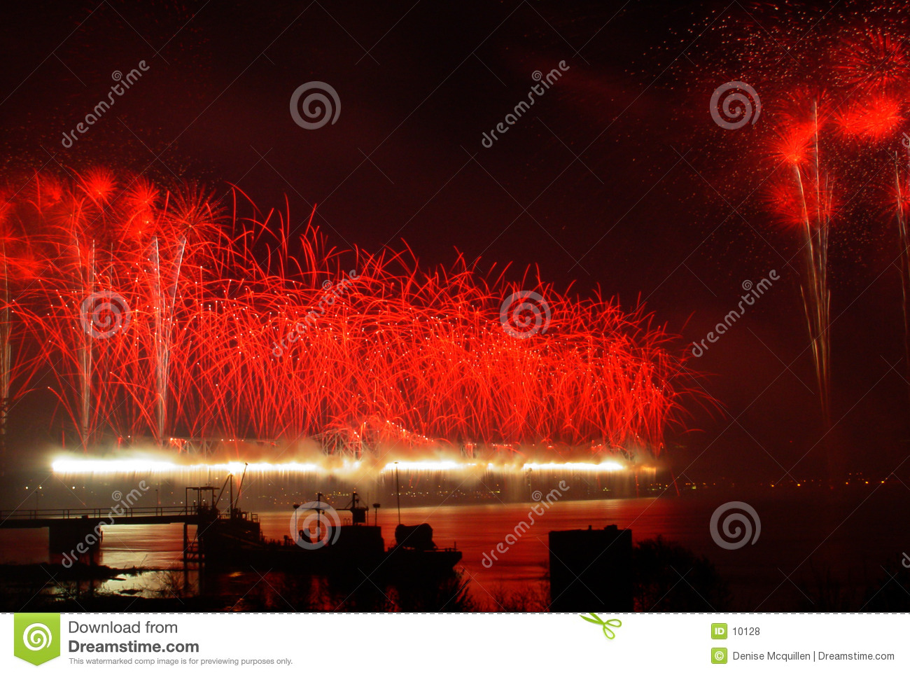 Feux d artifice rouges