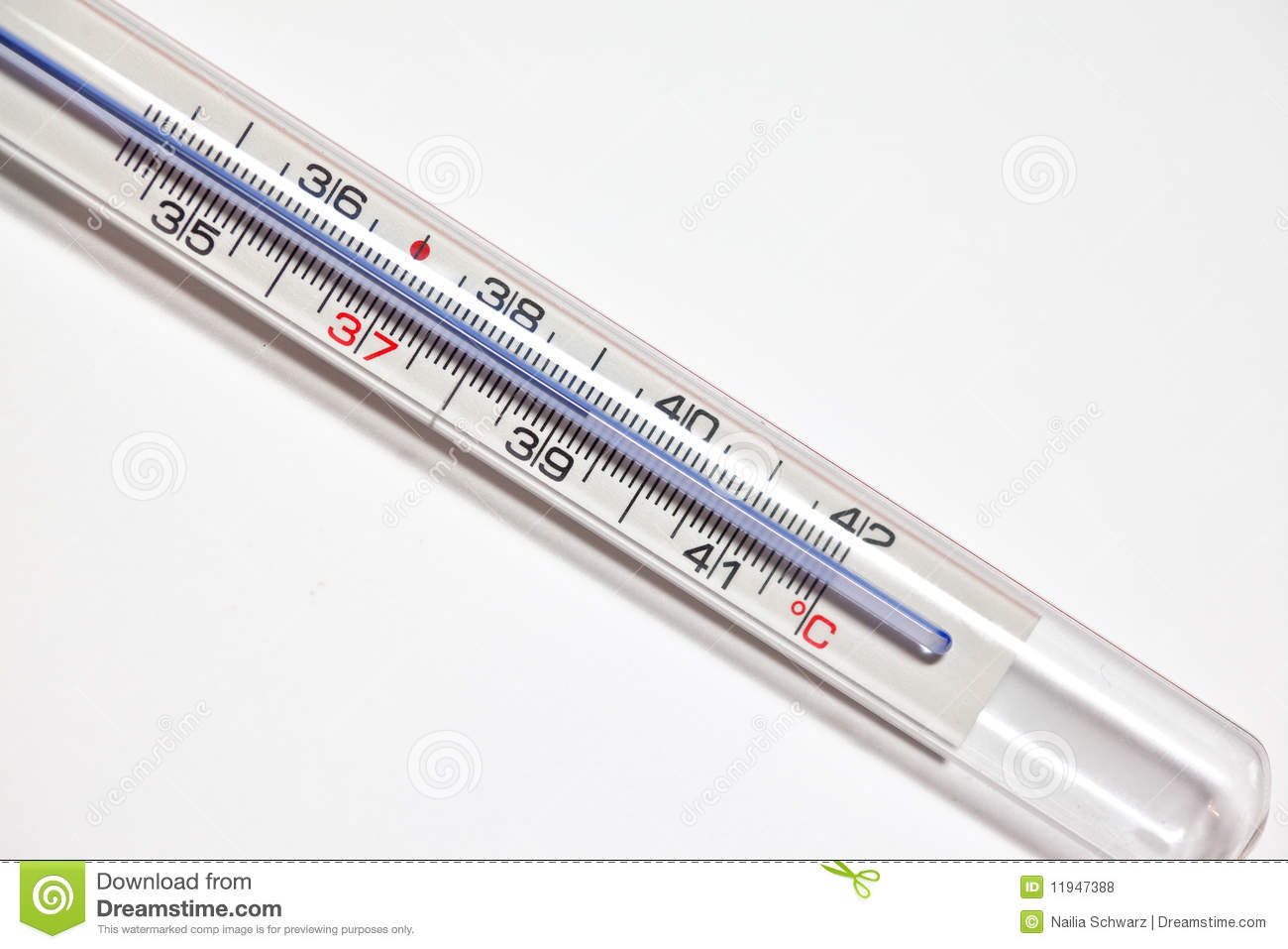 Fever Thermometer Stock Photo. Image Of Illness, Lifestyle