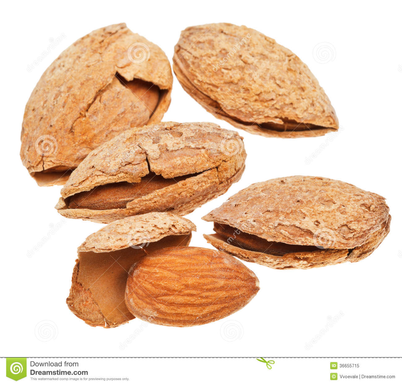 Few Fried Almond Nuts Close Up Royalty Free Stock Photo - Image ...