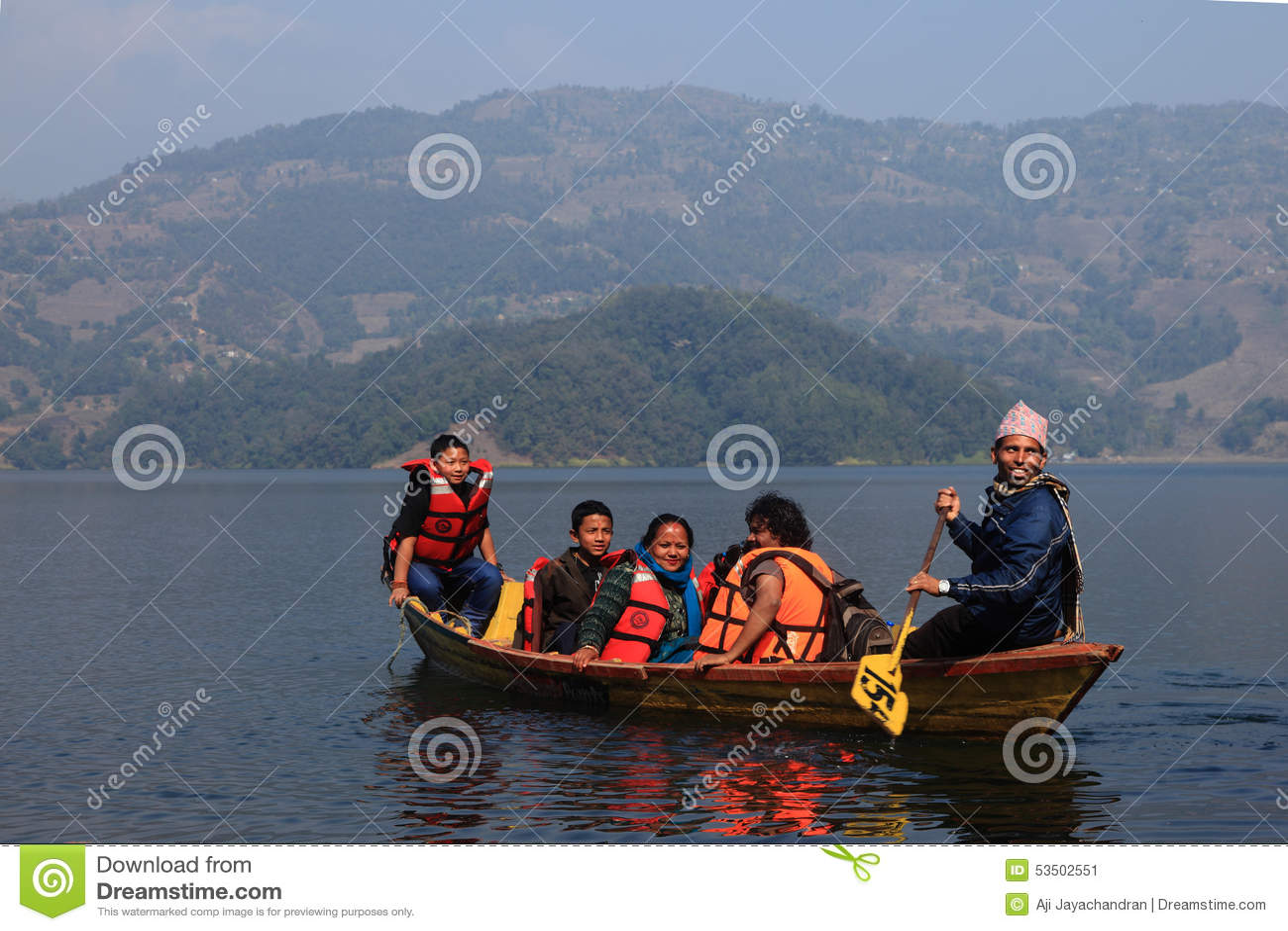 Fewa jeziorny Nepal pokhara