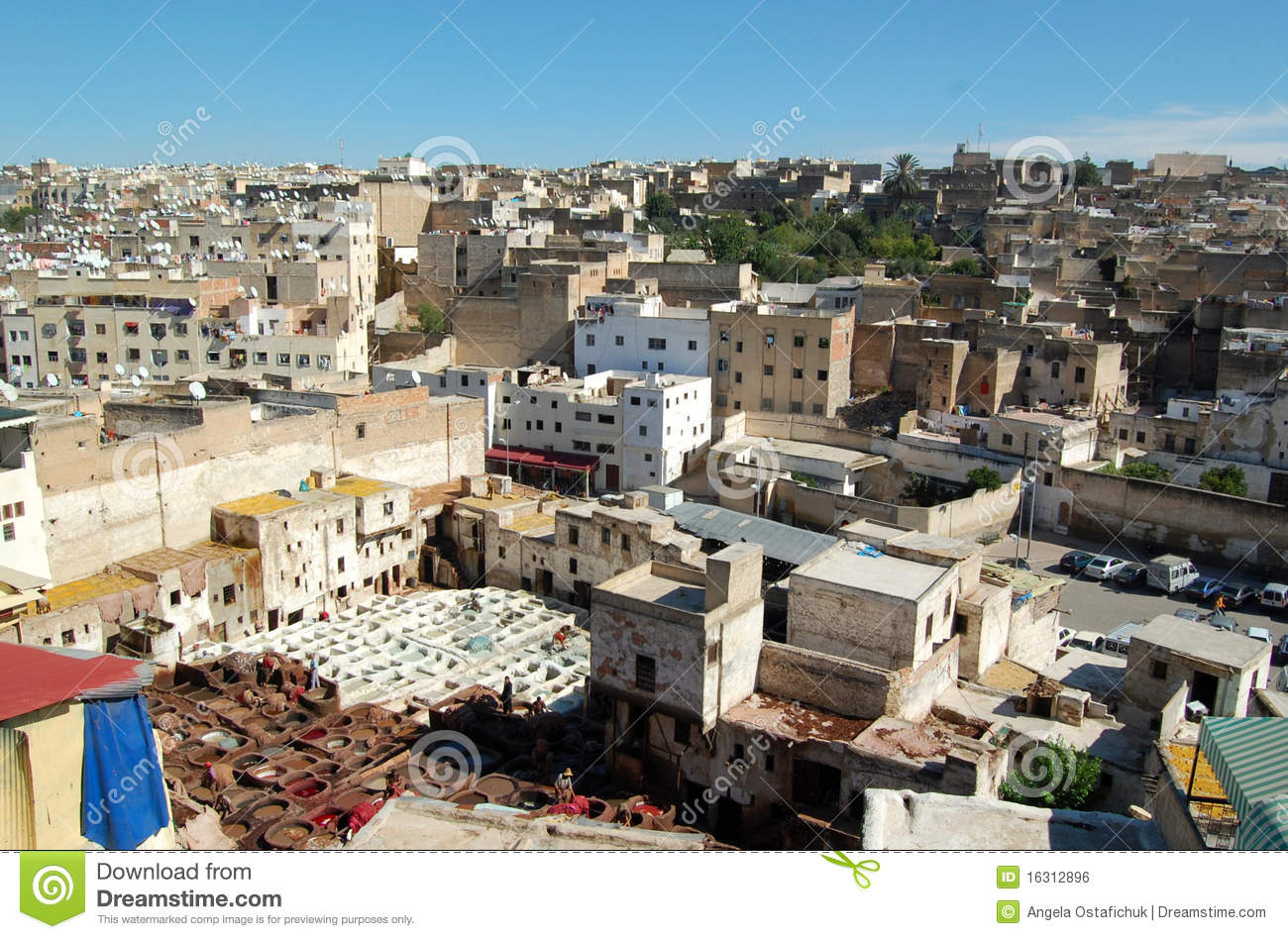 Fez city in Morocco
