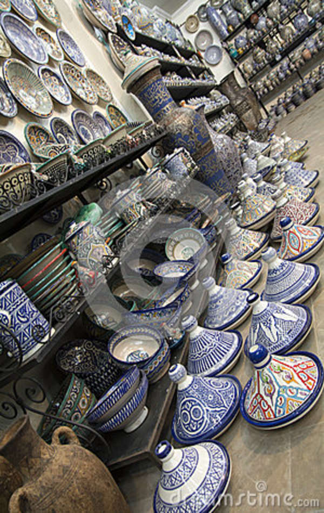 Fez Marrocos África cerâmica marroquina azul
