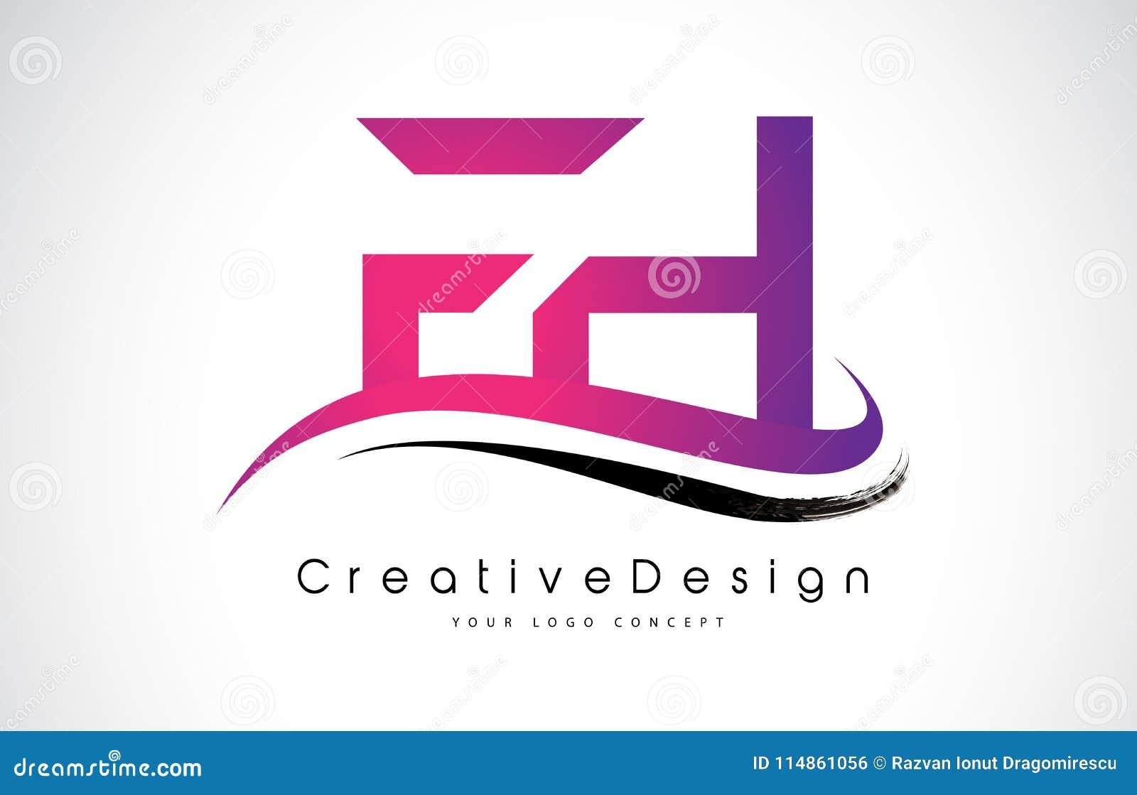 FH F H Letter Logo Design. Creative Icon Modern Letters Vector L ...
