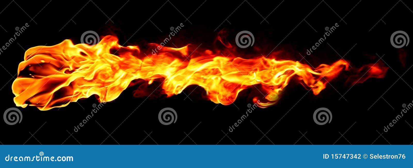 Fiamma del fuoco isolata