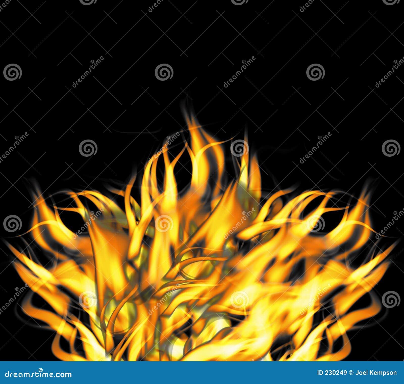 Fiamme infuriantesi feroci del fuoco