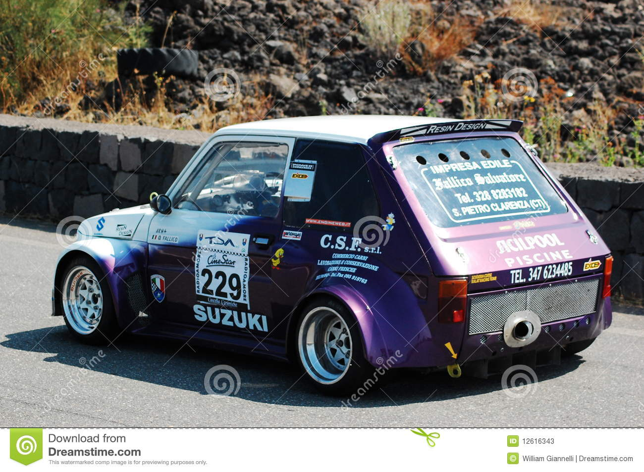 Fiat 126 During The Hillclimb Catania Etna 2009 Editorial