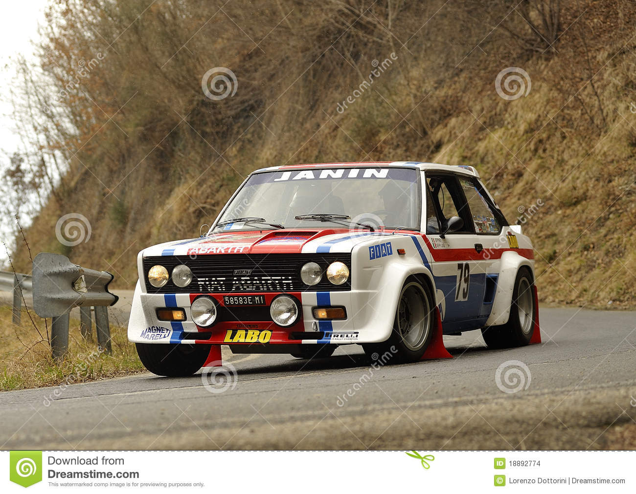 Fiat 131 Abarth on race during the 1th edition of Vallate Aretine ...