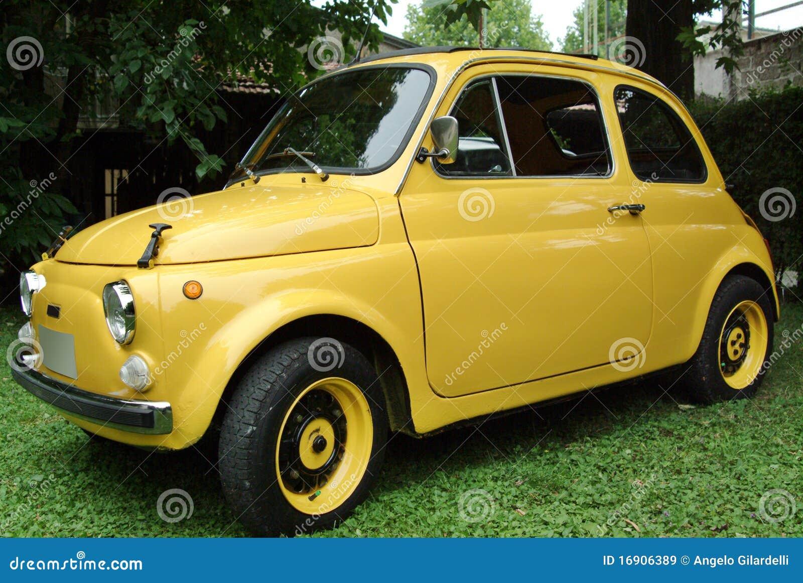 fiat 500 italian car stock image image of vintage street 16906389. Black Bedroom Furniture Sets. Home Design Ideas