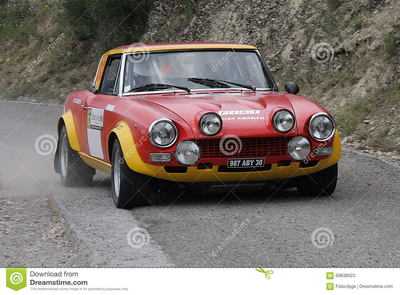 Fiat 124 Abarth Rally Car Editorial Stock Photo Image Of Best