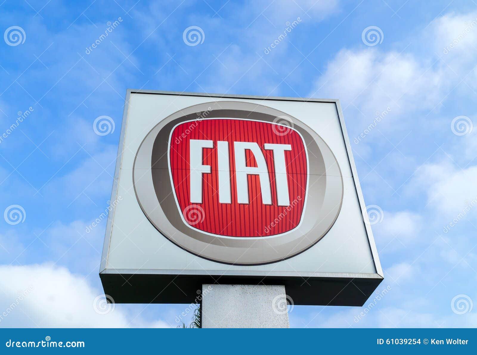 fiat dealership sign editorial stock image image of italy 61039254. Black Bedroom Furniture Sets. Home Design Ideas