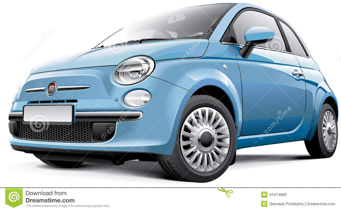 fiat 500 editorial image illustration of supermini microcar 41474890. Black Bedroom Furniture Sets. Home Design Ideas