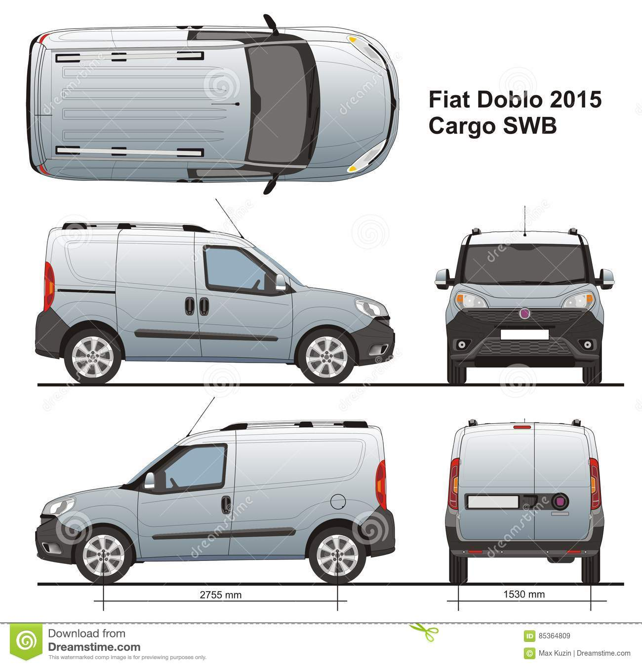 fiat doblo cargo swb 2015 editorial stock image. Black Bedroom Furniture Sets. Home Design Ideas