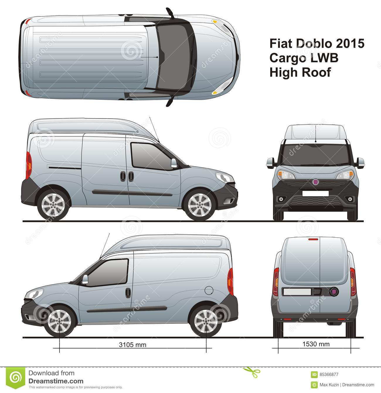 fiat doblo maxi cargo high roof 2015 editorial photography