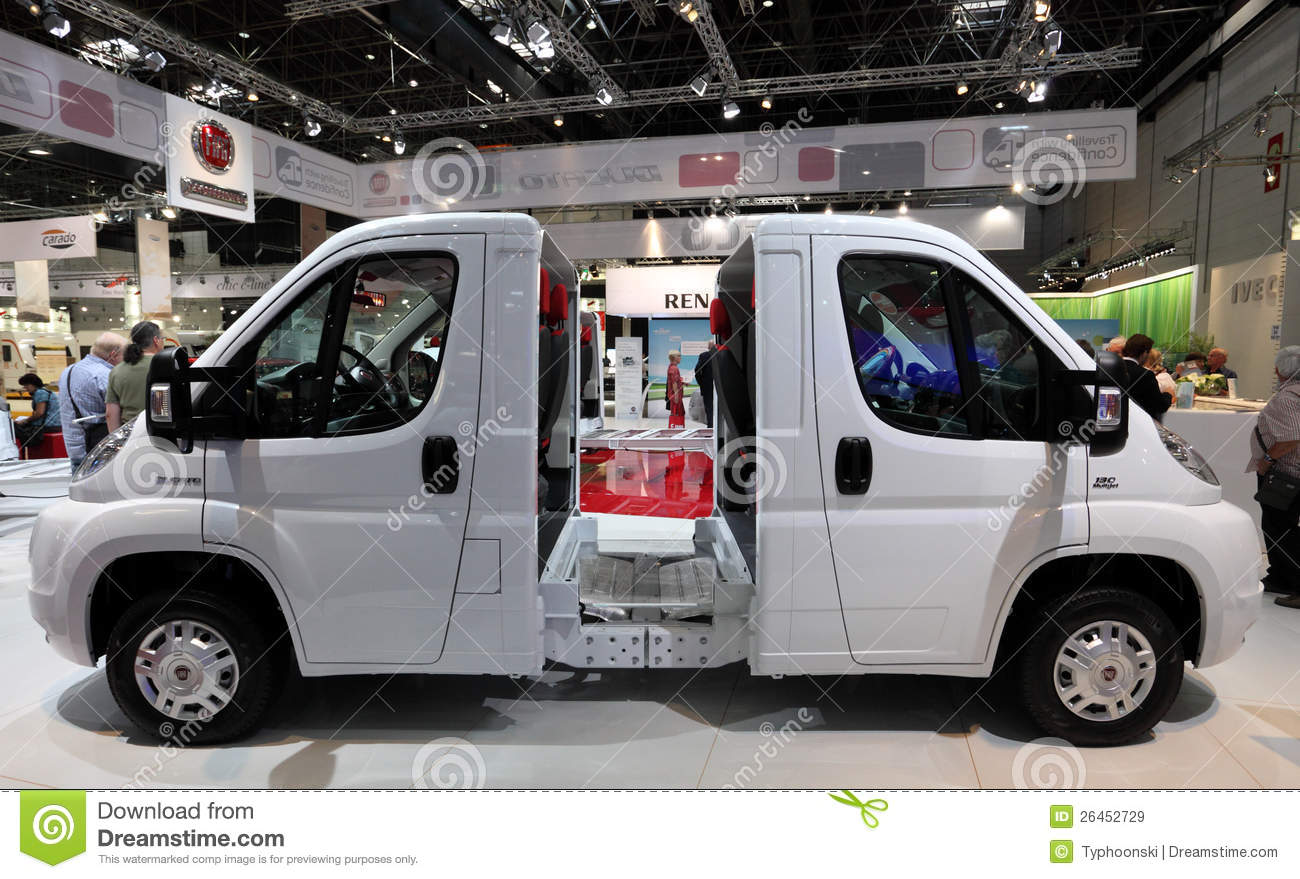 fiat ducato chassis editorial stock image image of auto 26452729. Black Bedroom Furniture Sets. Home Design Ideas