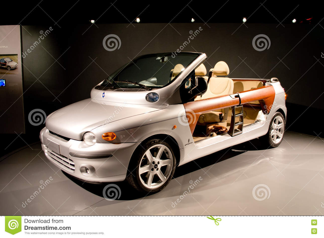 fiat multipla spider at useo nazionale dell automobile editorial stock photo image of engine. Black Bedroom Furniture Sets. Home Design Ideas