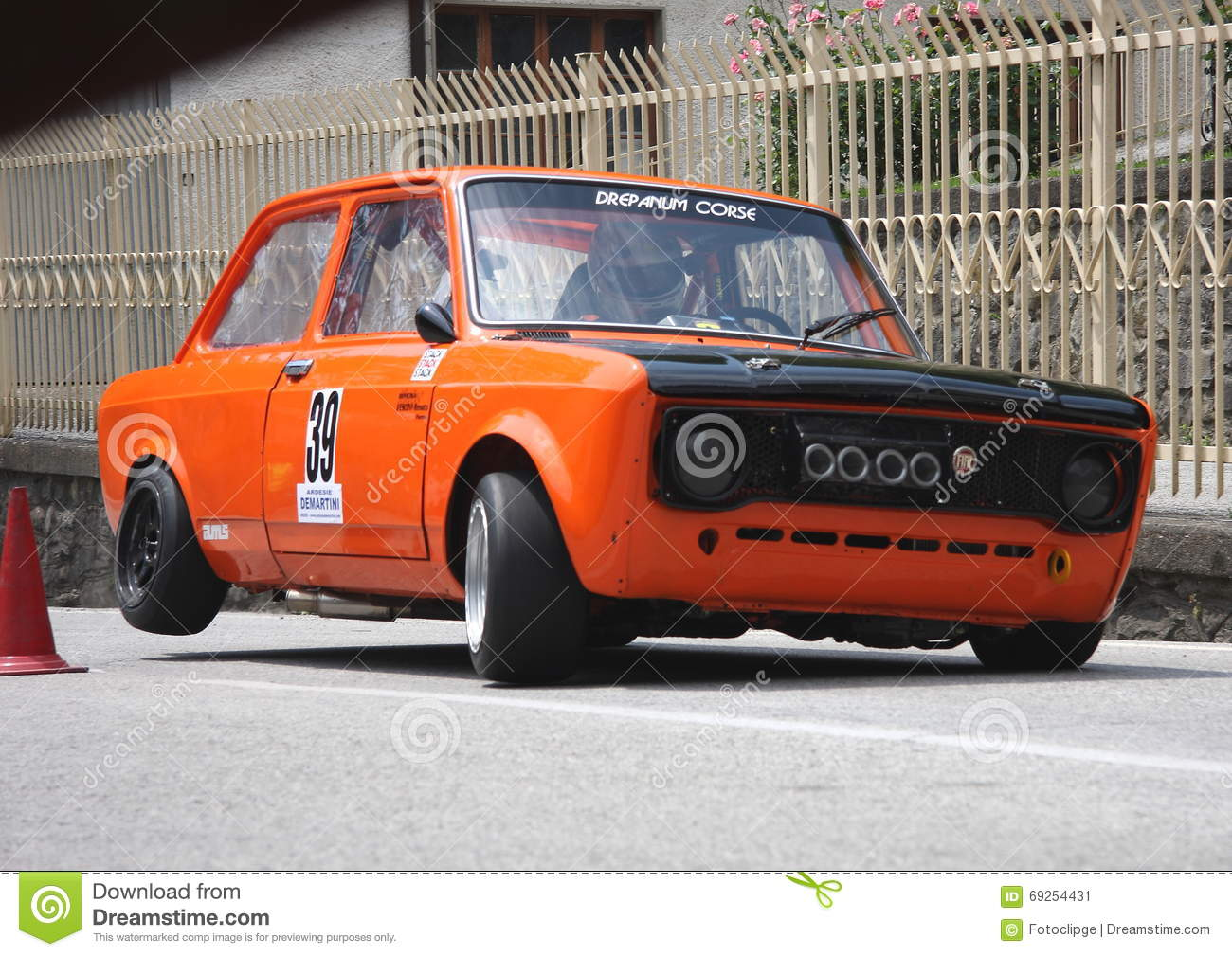 Fiat 128 Racing Car Sports Editorial Photo Image Of Cars 69254431