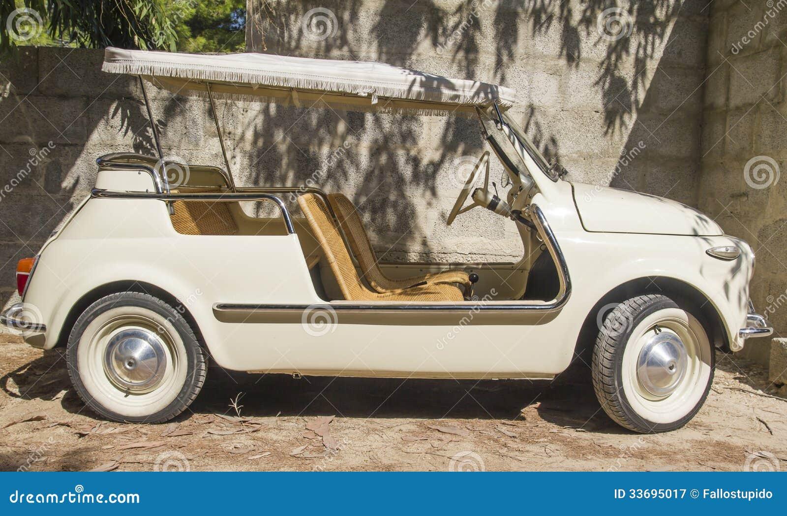 vintage fiat 500 spider cabrio special stock photography. Black Bedroom Furniture Sets. Home Design Ideas
