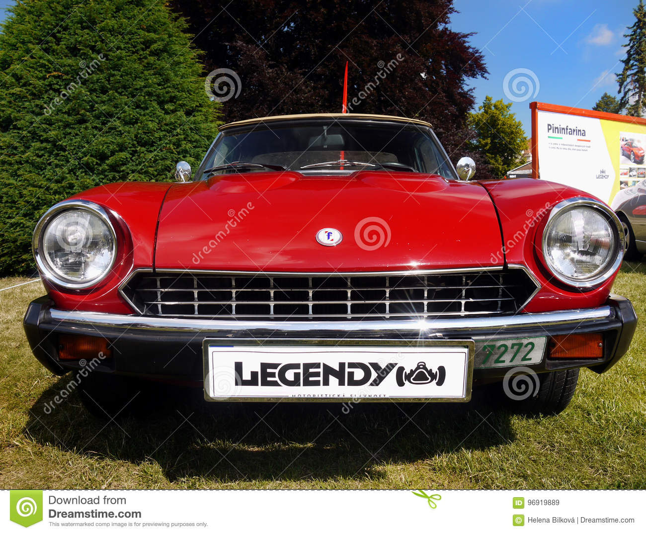 Fiat Spider Vintage Sports Cars Editorial Stock Image Image Of