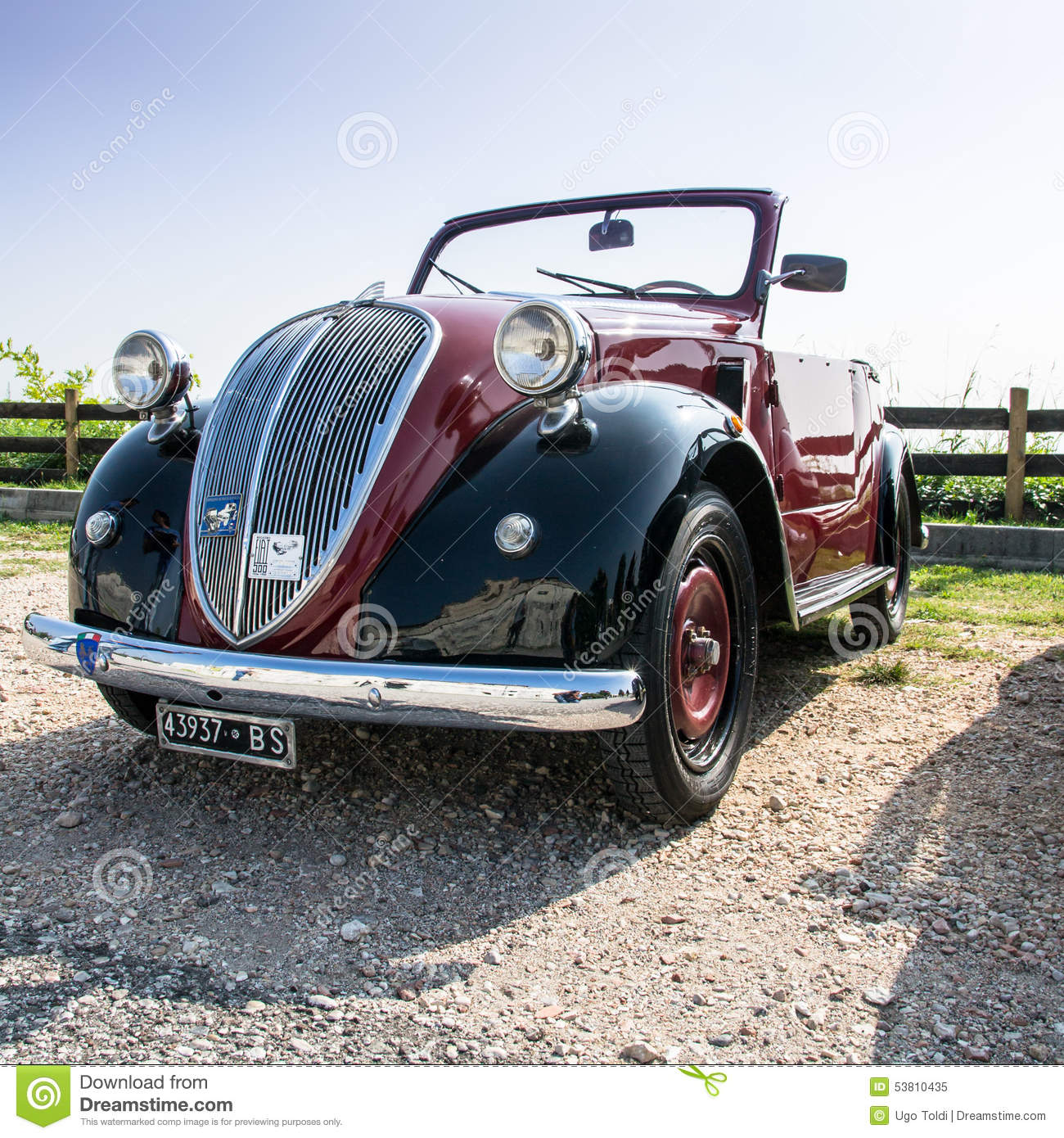 Fiat Topolino Car Editorial Image. Image Of Vehicle, Italy